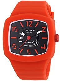 MADISON NEW YORK Unisex-Armbanduhr Candy Time TV Analog Quarz Silikon U4613-11