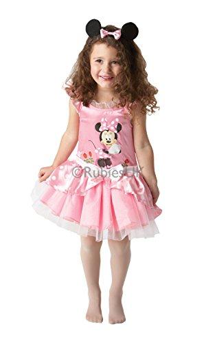 Preisvergleich Produktbild Rubie's offizielles Minnie-Maus-Ballerina-Kleid in pink,  Disney-Kostüm,  98 cm,  Kinder-Kostüm - Kleinkind