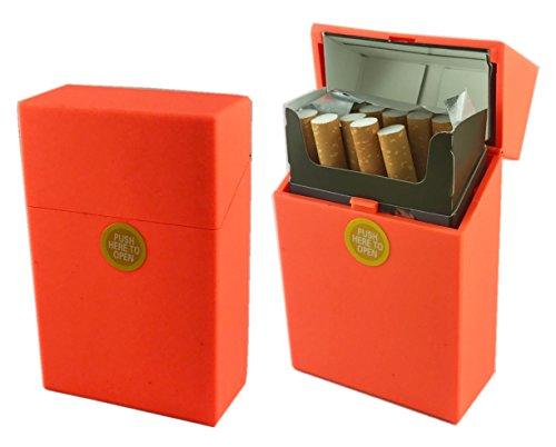 Offre Lagiwa - Etui à paquet de 20 cigarettes couleur au choix avec 1 cadeau bonus (Orange Mat)