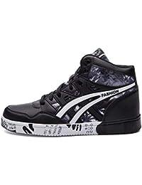 Hombres Zapatillas de Skate de Hip Hop de Cuero con Cordones Hombres Zapatos  Deportivos 2cb4db4f5f1