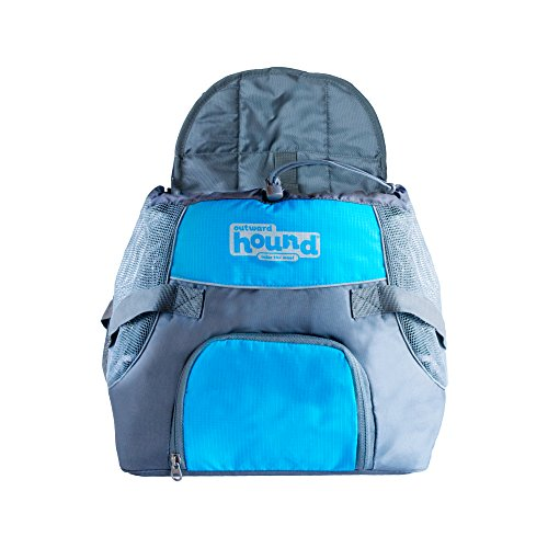 Kyjen 21009 Outward Hound PoochPouch Front Carrier for Dogs Easy Fit Hunde Tragetasche, verstellbar, Größe M, blau -