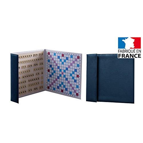 Scrabble magnétique format voyage / de poche Made in France (Bleu)