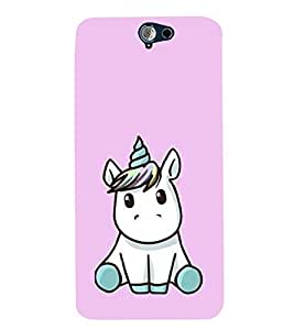 Little Unicorn 3D Hard Polycarbonate Designer Back Case Cover for HTC One A9
