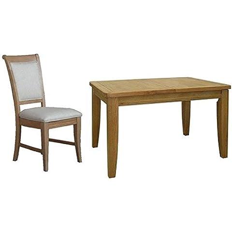 Treville roble–Conjunto de comedor extensible con 6sillas tapizadas, with 6 Chair