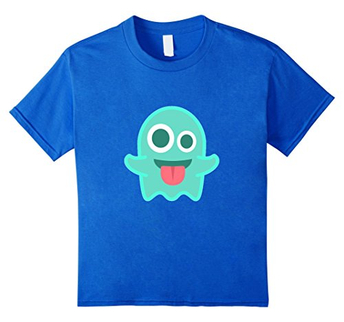 Ghost Emoji T-Shirt Tongue Out Scary Boo Costume Halloween