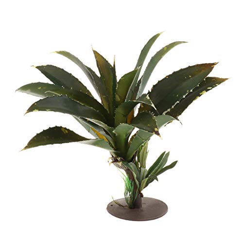 perfk Künstliche Pflanze Kunststoffpflanze Plastikpflanze mit Fuß für Aquarium und Terrarium