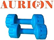 Aurion Set of 2 PVC Dumbbells Weights Fitness Home Gym Exercise Barbell (Pack of 2) Light Heavy for Women &