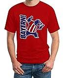 Bayern Fan Shirt mit Bär Maskottchen - Für Fußball Fans T-Shirt XXXXX-Large Rot