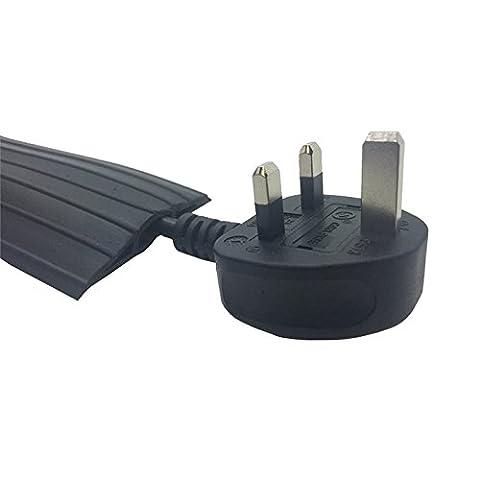Zexum Protection de plancher en caoutchouc ultra résistant pour câble au sol Noir Convient pour les conduits, la gestion de câbles, et la création d'une rampe de câbles dans le bureaux, domiciles, entrepôts et usines 9m noir