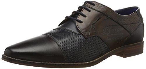 Bugatti 311147021111, Derby Homme Marron (Dark Brown/Dark Blue 6141)