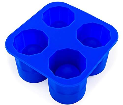 Blue Fox Ice Shot-Gläser, Silikonform, Stamperl, Gefrorene Becher, Cookie-Shots, Eiswürfel, Glas aus EIS, Backform, Farbe: Blau