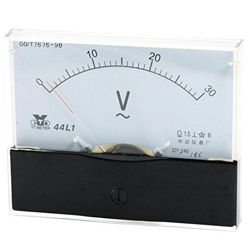 Analog Panel Meter Voltmeter AC Volt 0-30V Messbereich 44L1 de - Ac Voltmeter