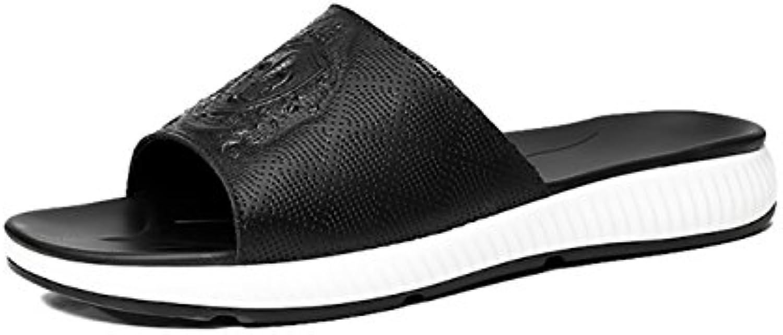 WENLLos Hombres de Cuero de Las Sandalias de Verano Sandalias Zapatillas Gruesas Suelas de Zapatos Deportivos... -
