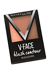 Maybelline V-Face Blush Contour Brown with Ayur Product in Combo
