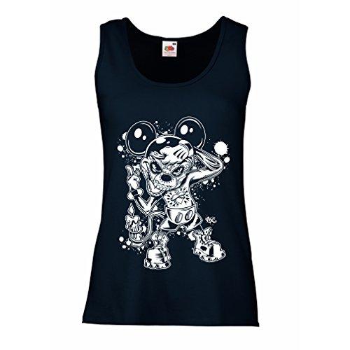 lepni.me Damen Tank-Top Eine Maus mit Einem tollen Halloween-Party-Kostüm (Large Blau Mehrfarben) (Shirt Tales Halloween-kostüme)