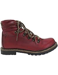 Spieth & Wensky Chaussures bateau pour femme - Rouge - Rouge, 40 EU