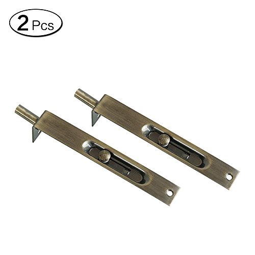 Zhi Jin 2 Edelstahl Slide Tür Flush Bolt Verriegelung Sicherheit Tor Lock Security Guard 6 bronze -