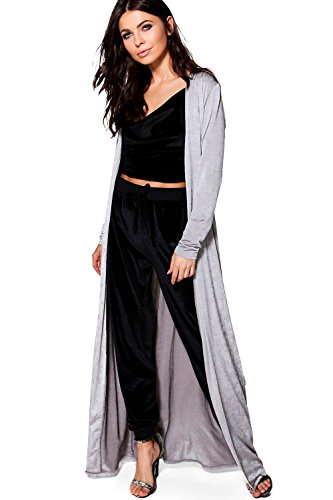 Femmes gris Milly Slinky Belted Maxi Duster Gris