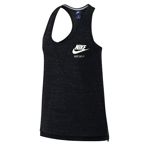 Nike Damen W NSW Gym VNTG Tank Top, Black/Sail, L -
