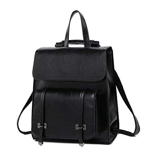 Wickeltaschen Rucksackmummyshoulder Bag Female Bag Handtasche Fashion Oil Wax Leder Rucksack Ledertasche Lady Backpack Leisure Travel-Model 1