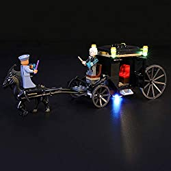 BRIKSMAX Kit de LED pour Lego Harry Potter L'évasion de Grindelwald, Compatible avec la Maquette Lego 75951, La Maquette de Construction n'est Pas Incluse