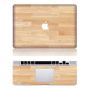 """Decalshut bois clair pour ordinateur portable amovible en vinyle Motif dessus en vinyle autocollant en vinyle pour Macbook Pro 13 """""""