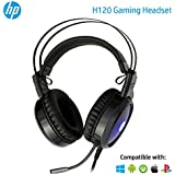 HP H120 USB 2 Pin Gaming Headset with Mic Control (Black)