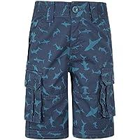 Mountain Warehouse Printed Kids Cargo Shorts Azul 2-3 Años