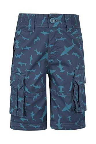 mountain-warehouse-kinder-cargo-shorts-bedruckt-blau-116