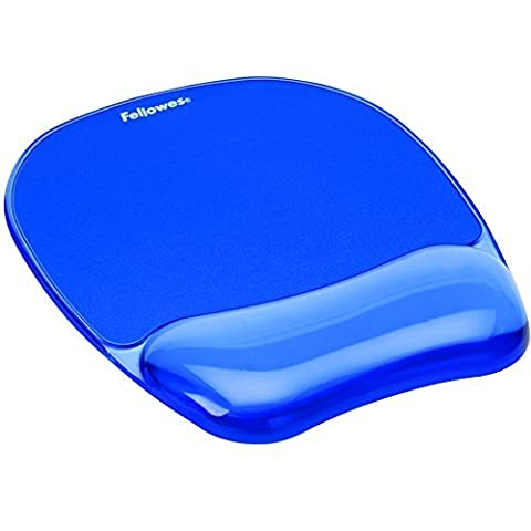 2 X Fellowes Crystals Gel Mouse Pad/Wrist Support - Blue