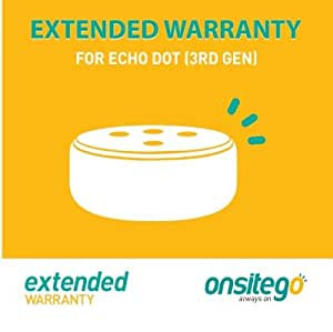 Onsitego 1 Year Extended Warranty for Echo Dot (3rd Gen) (Email Delivery)