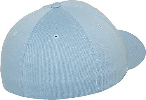 Flexfit Wooly Combed - 6 Panel Unisex Baseball Cap in 28 Farben, für Erwachsene und Kinder Carolina Blue