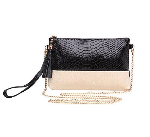 kiss-gold-moderne-tragetasche-clutch-bag-mit-bicolor-schlangemuster-schwarz