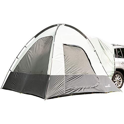 skandika Pitea SUV Zelt für 4 Personen, Fahrzeug/Auto Vorzelt, freistehend 300x300cm mit 220cm Höhe & eingenähtem Zeltboden (Suv Zelt)