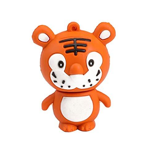 Kesoto chiavetta flash drive usb 2.0 disco pen drive forma animale cartone accessorio informatico - arancione e bianco 16g