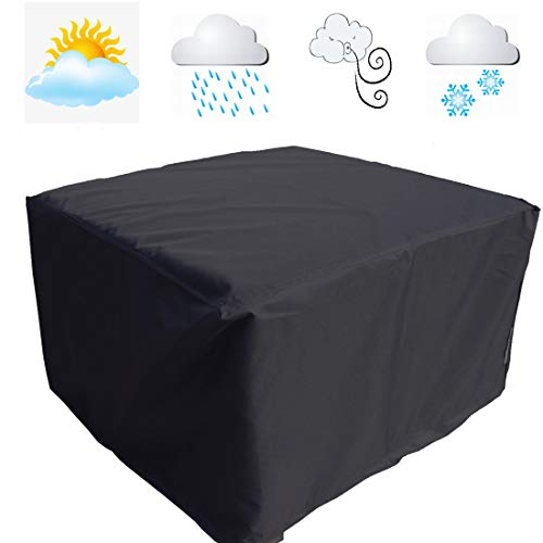 9647dfa14b0 FLR 53in Patio Table Cover Square Black Waterproof Outdoor Dinner Protector  Dust-Proof Table Desk