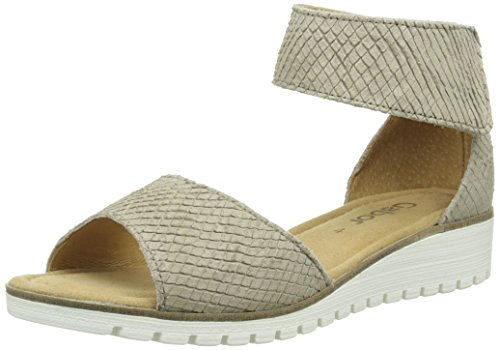 Gabor Shoes 44.570 Damen Knöchelriemchen Sandalen ,Beige (82 silk) ,39 EU