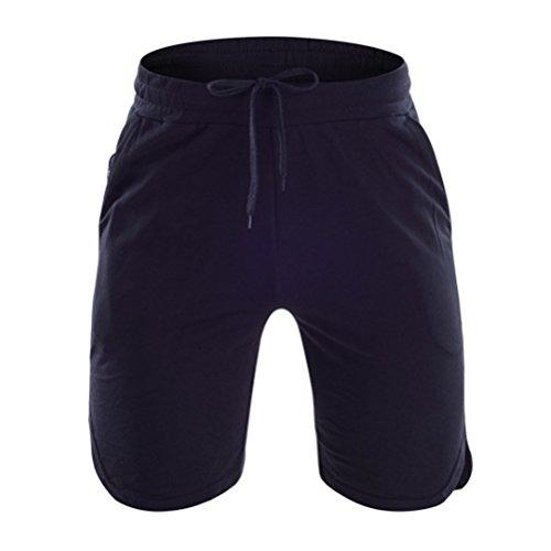 Zhuhaitf Sports Breathable Mens Cozy Fitness Running Traning Asciugatura rapida Drawstring Shorts with Pocket 2 Colors Black