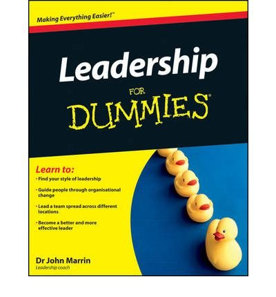 [ Leadership For Dummies ] By Marrin, John ( Author ) Apr-2011 [ Paperback ] Leadership For Dummies