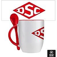 """DSC """"DSC Logo"""" Löffeltasse, Weiß/Rot"""