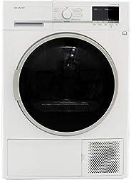 Sèche linge Condensation Sharp KDGHB8S7GW2 - Condensation - Chargement Frontal - Pompe à chaleur - Départ diff