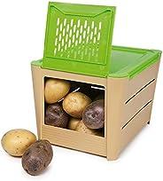 Snips PORTAPATATE 3 kg Marrone - Contenitore Porta Patate, Cipolle & Ver