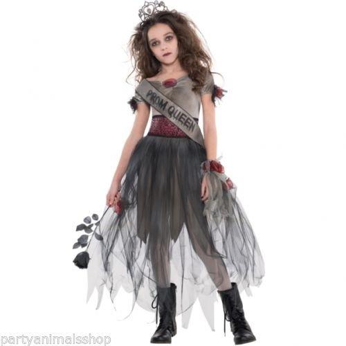 Geister Ballkönigin Halloween Kostüm Kinder Mädchen Amscan (Geist Mädchen Kinder Kostüm)
