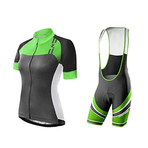 Uglyfrog Bike Wear Sommer Damen Cycling Jersey Männer Short Sleeve Trikots & Shirts Atmungsaktiv Mode Bunt+Trägerhosen Anzüge with Gel Pad Sport Bekleidung