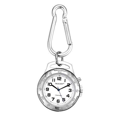 Profi METALL Sprechender Schlüssel-Anhänger Armbanduhr Wecker Uhr Senioren Blindenuhr Taschenuhr Umhängeuhr mit Uhrzeitansage