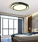 Acryl LED Deckenleuchte Schmiedeeisen moderne minimalistische kreative geometrische quadratische Wohnzimmer Schlafzimmer Deckenleuchte, Dimmen, 55 * 44