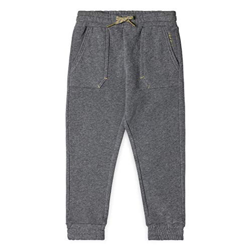 ESPRIT KIDS Jungen Knit Pants Hose, Grau (Dark Heather Grey 201), 128 Kind Knit Pant