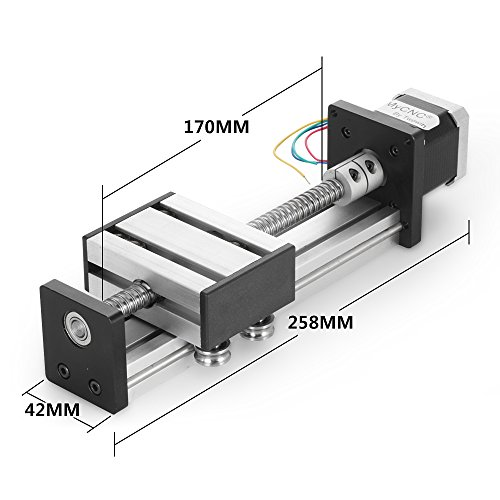Preisvergleich Produktbild BEAUTY STAR® Travel Length Linear Stage Actuator DIY CNC Router Parts X Y Z Linear Rail Guide Sfu1402 Nema17