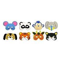 The Little Party Shop 1 x Childrens Eva Foam Animal Masks Party Bag Filler Toys