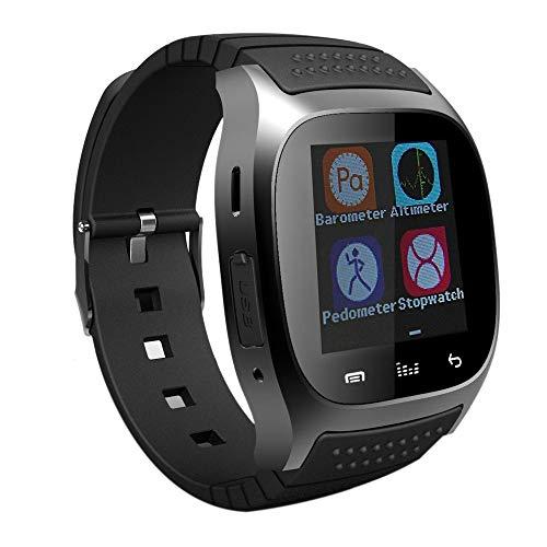 Cikuso Bluetooth da Polso Smart Horloge M26 Impermeabile Smartwatch Chiamata Pedometro di Musica Tracker di Fitness per Android Smart Phone PK A1 (Nero)
